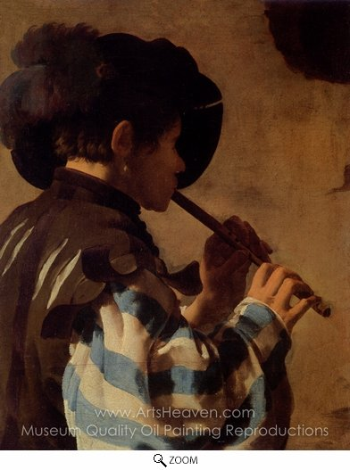 Hendrick Ter Brugghen, The Flute Player oil painting reproduction