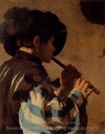 The Flute Player painting reproduction, Hendrick Ter Brugghen