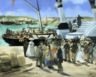 The Folkestone Boat, Boulogne painting reproduction, Édouard Manet