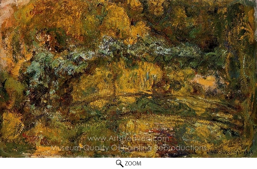Claude Monet, The Footbridge Over the Water-Lily Pond oil painting reproduction
