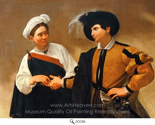 Caravaggio, The Fortune Teller oil painting reproduction