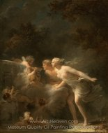 The Fountain of Love painting reproduction, Jean-Honore Fragonard