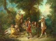 The Four Ages of Man - Maturity painting reproduction, Nicolas Lancret