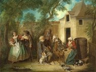 The Four Ages of Man - Old Age painting reproduction, Nicolas Lancret