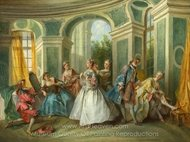 The Four Ages of Man - Youth painting reproduction, Nicolas Lancret