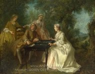 The Four Times of Day - Afternoon painting reproduction, Nicolas Lancret