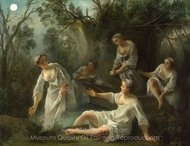 The Four Times of Day - Evening painting reproduction, Nicolas Lancret