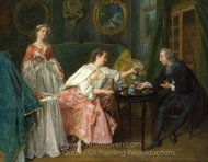 The Four Times of Day - Morning painting reproduction, Nicolas Lancret