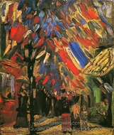The Fourteenth of July Celebration in Paris painting reproduction, Vincent Van Gogh