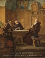 The Game of Cards painting reproduction, Eduard Von Grutzner