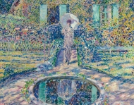 The Garden painting reproduction, Frederick Carl Frieseke