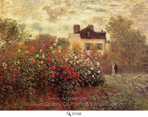 Claude Monet, The Garden at Argenteuil (The Dahlias) oil painting reproduction