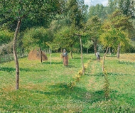 The Garden at Eragny painting reproduction, Camille Pissarro
