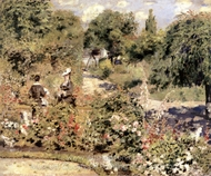 The Garden at Fontenay painting reproduction, Pierre-Auguste Renoir
