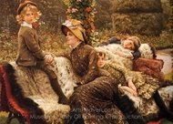 The Garden Bench painting reproduction, James Tissot