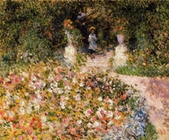 The Garden (In the Park) painting reproduction, Pierre-Auguste Renoir