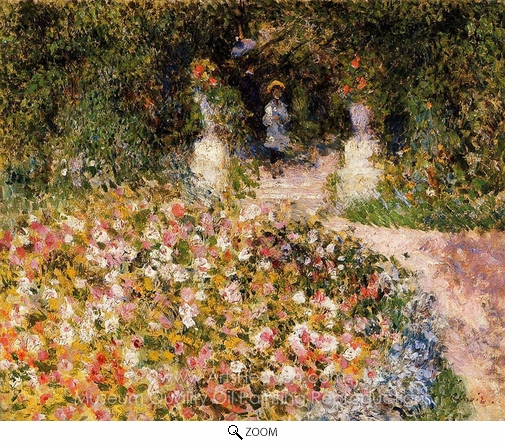 Pierre-Auguste Renoir, The Garden (In the Park) oil painting reproduction