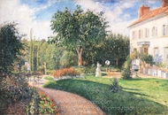 The Garden of Les Mathurins at Pontoise painting reproduction, Camille Pissarro