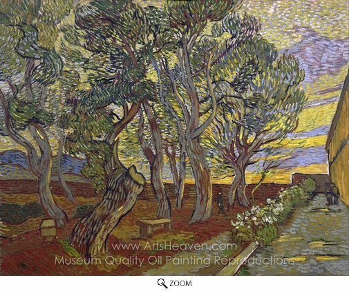 Vincent Van Gogh, The Garden of the Asylum in Saint-Remy oil painting reproduction