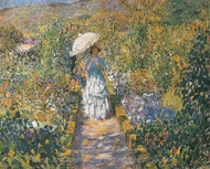 The Garden Path painting reproduction, Frederick Carl Frieseke