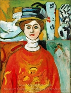 The Girl with Green Eyes painting reproduction, Henri Matisse