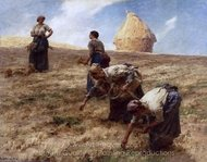 The Gleaners painting reproduction, Leon Augustin Lhermitte