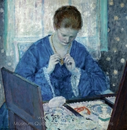 The Gold Locket painting reproduction, Frederick Carl Frieseke