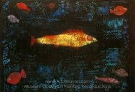 The Golden Fish painting reproduction, Paul Klee