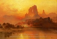 The Golden Hour painting reproduction, Thomas Moran