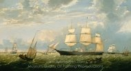 The Golden State Entering New York Harbor painting reproduction, Fitz Hugh Lane