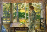 The Goldfish Window painting reproduction, Childe Hassam