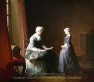 The Good Education painting reproduction, Jean Simeon Chardin
