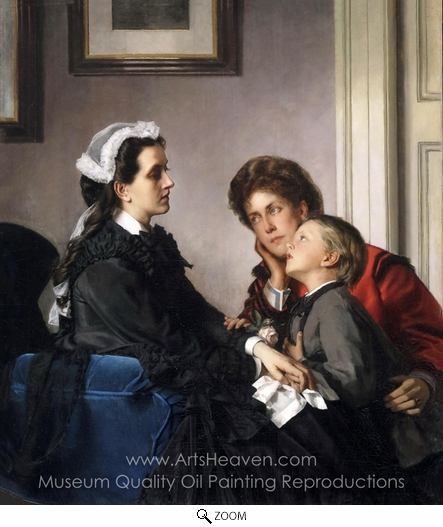 Alexandre Cabanel, The Governess oil painting reproduction