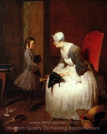 The Governess painting reproduction, Jean Simeon Chardin