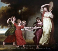 The Gower Family painting reproduction, George Romney