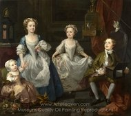The Graham Children painting reproduction, William Hogarth