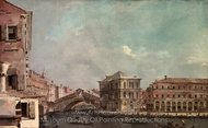 The Grand Canal above the Rialto painting reproduction, Francesco Guardi