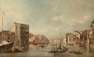 The Grand Canal in Venice with Palazzo Bembo painting reproduction, Francesco Guardi