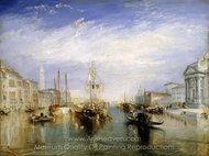 The Grand Canal, Venice painting reproduction, Joseph M. W. Turner