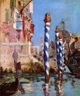 The Grand Canal, Venice painting reproduction, Édouard Manet