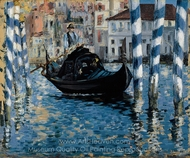 The Grand Canal, Venice (Blue Venice) painting reproduction, Édouard Manet