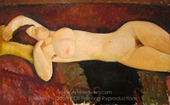 The Grand Nude painting reproduction, Amedeo Modigliani
