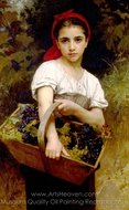 The Grape Picker (Vendangeuse) painting reproduction, William A. Bouguereau