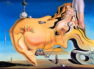The Great Masturbator painting reproduction, Salvador Dali (inspired by)