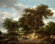The Great Oak painting reproduction, Jacob Van Ruisdael