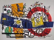 The Great Parade painting reproduction, Fernand Leger