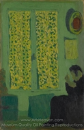 The Green Interior painting reproduction, Edouard Vuillard