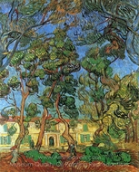 The Grounds of the Asylum painting reproduction, Vincent Van Gogh