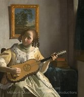 The Guitar Player painting reproduction, Jan Vermeer