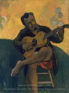 The Guitar Player painting reproduction, Paul Gauguin